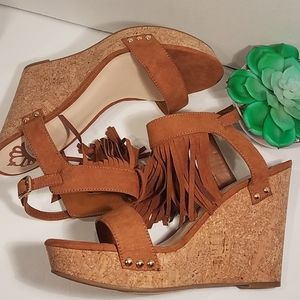 Fergalicious by Fergie Wedge Heels w/ Fringes